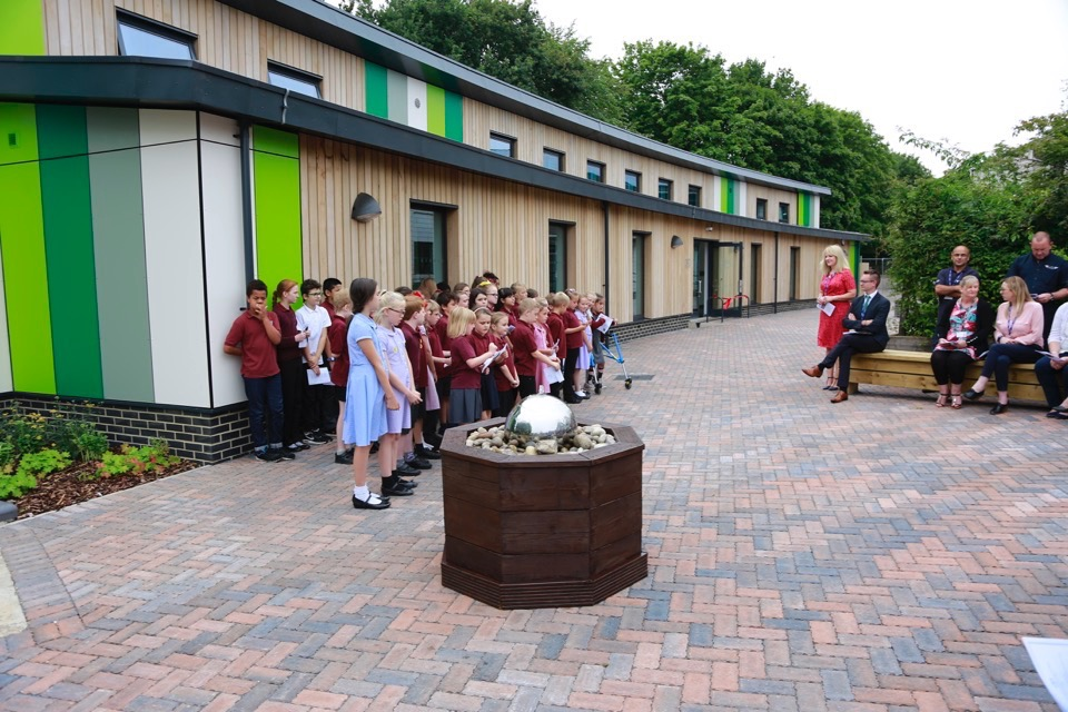 Opening ceremony for the new classroom block July 2017   St