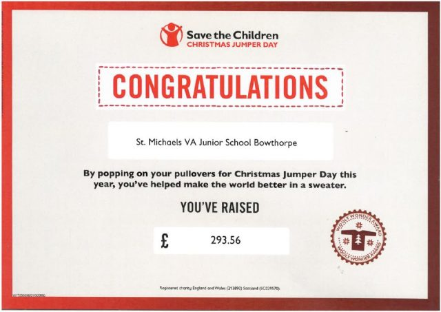 thumbnail of Save the children certificate
