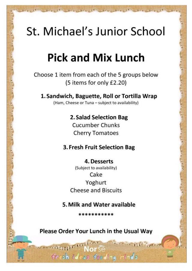 thumbnail of St Michael's – Pick and Mix Packed Lunch Poster – Jan 19