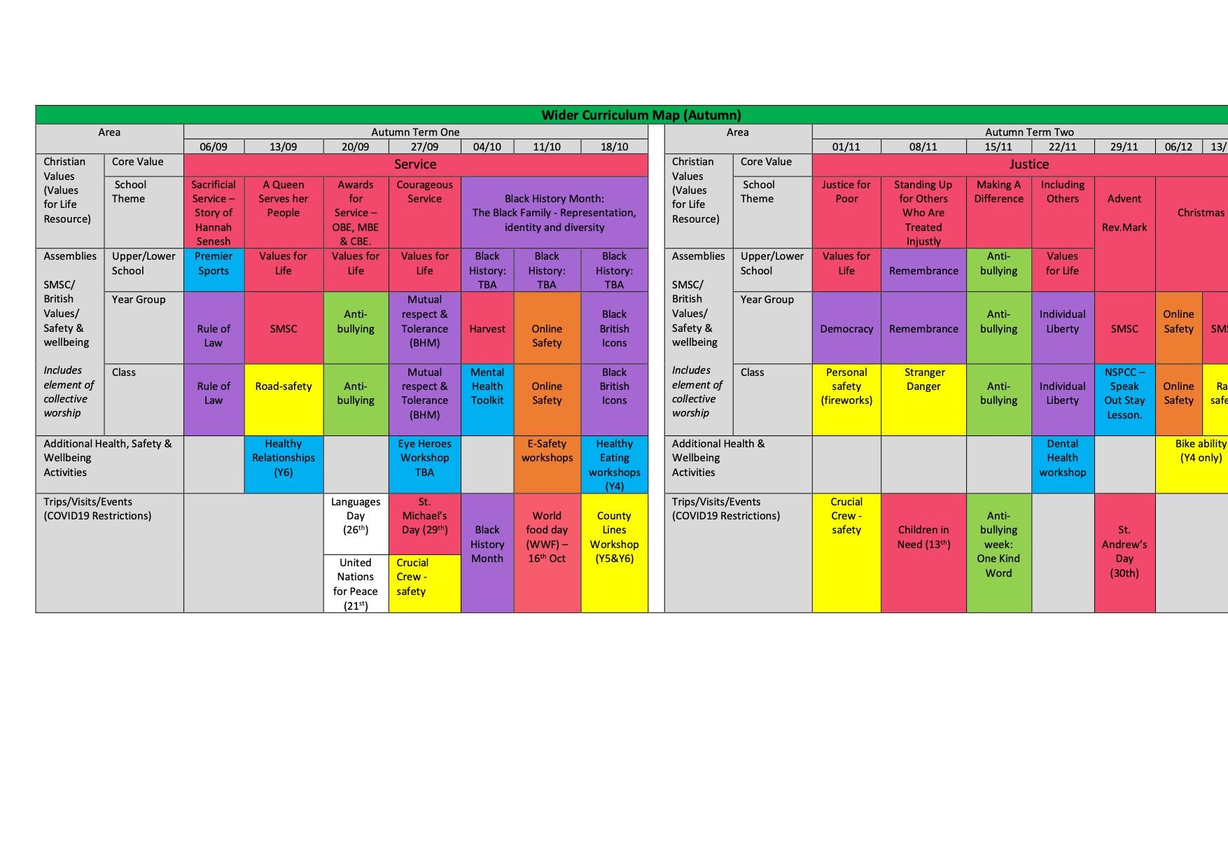 Wider Curriculum Map 2021 2022 (1)